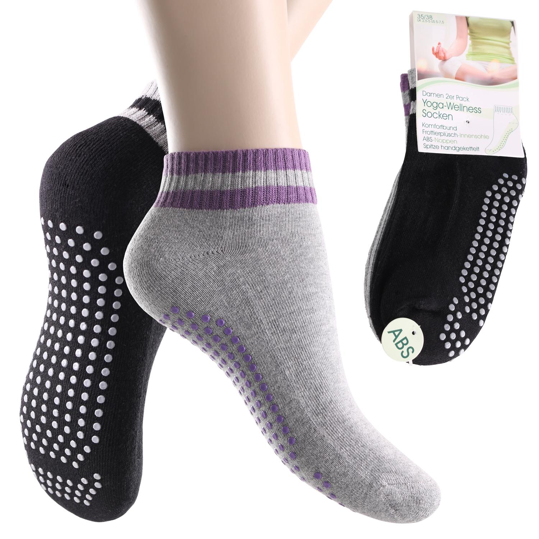 4-Paar-Yoga-Socken-Pilates-Socken-Antirutsch-Massage-Sohle-footstar