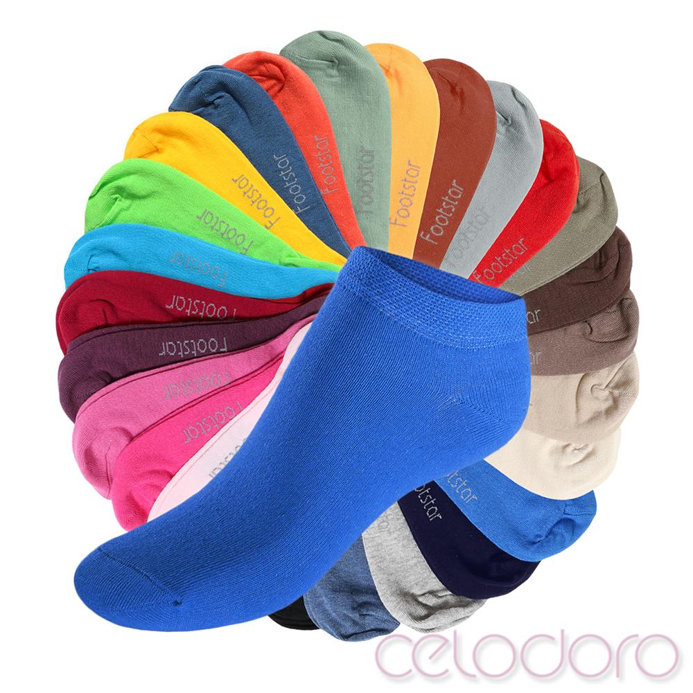 8 Paar Kinder Sneaker-Socken Pastell Mix 27-30 Footstar