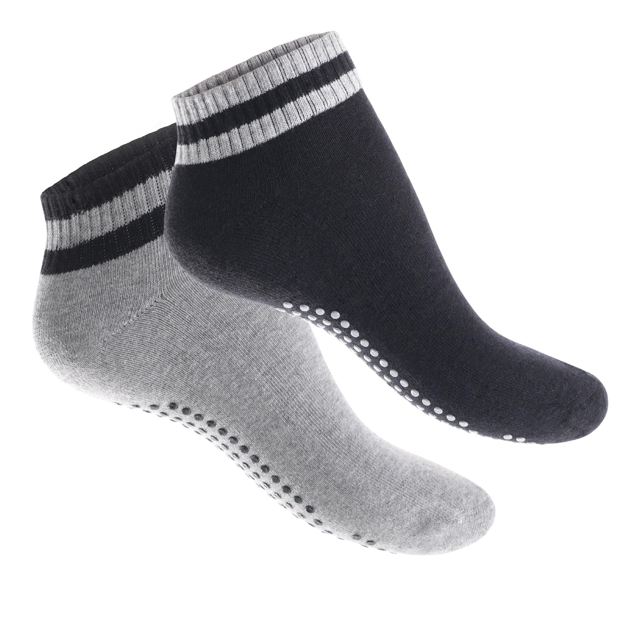 4-Paar-Yoga-Socken-Pilates-Socken-Antirutsch-Massage-Sohle