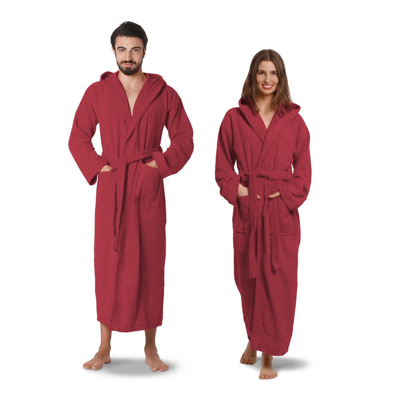oahoo damen herren bademantel saunamantel morgenmantel baumwolle kapuze ebay. Black Bedroom Furniture Sets. Home Design Ideas