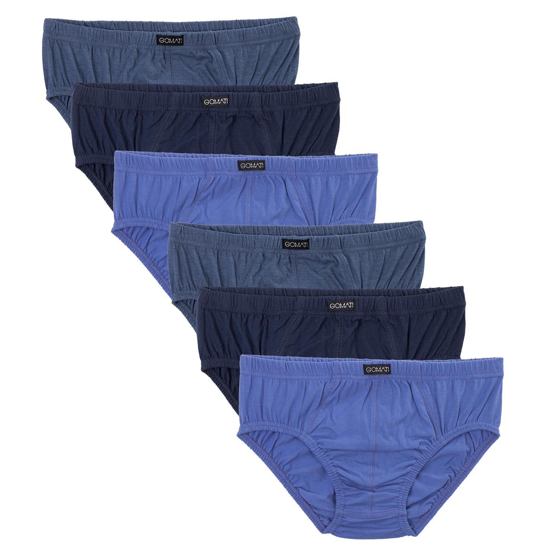 6964784a668d61 Details zu Gomati 6 Herren Slips Baumwolle Cotton Slip Männer Unterhose  blau weiß schwarz
