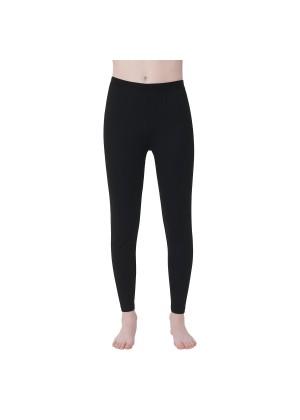 Gomati Kinder Thermo Hose - warme Funktions Unterhose lang - Schwarz