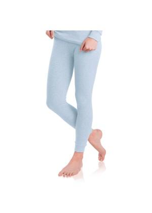 MT Damen Ski- & Thermohose - warme Unterwäsche lang mit Innenfleece - Ice Blue