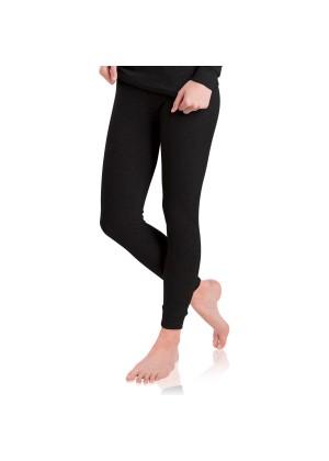 MT Damen Ski- & Thermohose - warme Unterwäsche lang mit Innenfleece - Schwarz