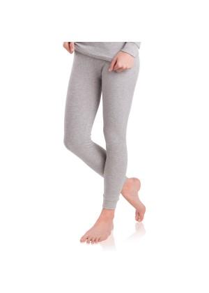 MT Damen Ski- & Thermohose - warme Unterwäsche lang mit Innenfleece - Sports Grey