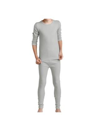 MT Kinder Ski- & Thermowäsche Set - warme Unterwäsche langarm mit Innenfleece Sports Grey