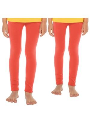 Celodoro Kinder Thermo Leggings (2 Stück) - warme Unterhose lang mit Innenfleece - Lachs
