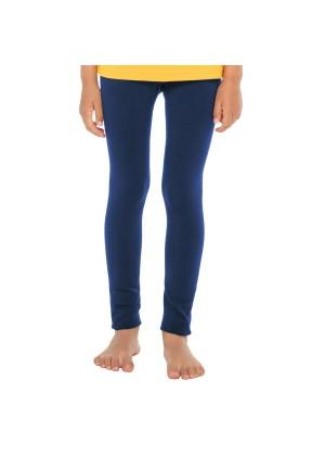 Celodoro Kinder Thermo Leggings (1 Stück) - warme Unterhose lang mit Innenfleece - Blau