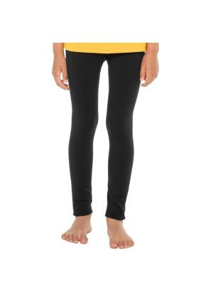 Celodoro Kinder Thermo Leggings (1 Stück) - warme Unterhose lang mit Innenfleece - Schwarz