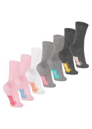 Footstar Kinder Wochentage Socken (7 Paar) Bunte Socken für Jungen und Mädchen - Pastell Mix