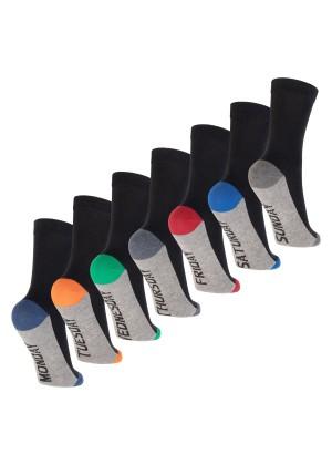 Footstar Kinder Wochentage Socken (7 Paar) Bunte Socken für Jungen und Mädchen - Sport Colors