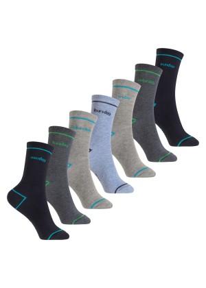 Footstar Kinder Wochentage Socken (7 Paar) Bunte Socken für Jungen und Mädchen - Jeans