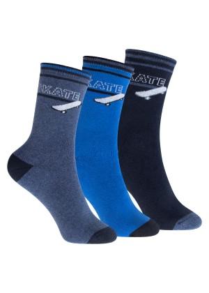 Footstar Kinder Frottee-Socken mit Motiv (3 Paar), Warme Socken mit Thermoeffekt - Skate