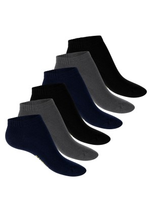 Footstar Damen Bambus Sneaker Socken (6 Paar), Kurze Socken aus nachhaltiger Viskose - Mix