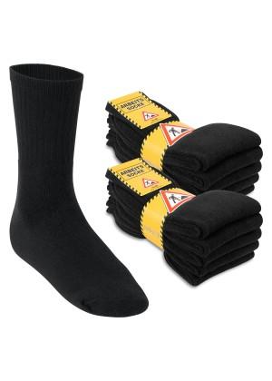 Footstar Herren Arbeitssocken (10 Paar), Robuste Socken mit Frottee-Polsterung - Schwarz