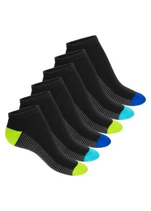 Footstar Damen & Herren Fitness Sneaker Socken (6 Paar) - Schwarz
