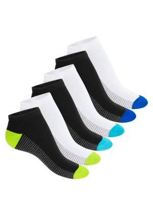 Footstar Damen & Herren Fitness Sneaker Socken (6 Paar) - Schwarz-Weiß-Mix