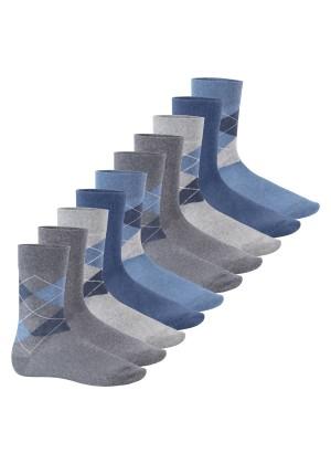 Footstar Herren Motiv Socken (10 Paar), Baumwoll Socken mit Mustern - Classic Mix