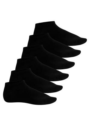Footstar Herren Bambus Sneaker Socken (6 Paar), Kurze Socken aus nachhaltiger Viskose - Schwarz