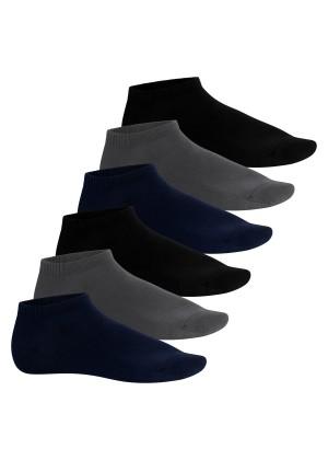 Footstar Herren Bambus Sneaker Socken (6 Paar), Kurze Socken aus nachhaltiger Viskose - Mix