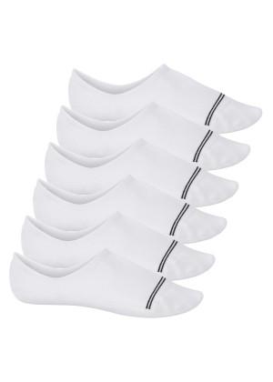 Footstar Damen und Herren Füßlinge (6 Paar) No Show Footies mit Anti-Slip - Sneak-it! - Weiß