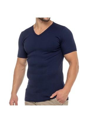 Celodoro Herren Business T-Shirt V-Neck (1 Stück) - Marine