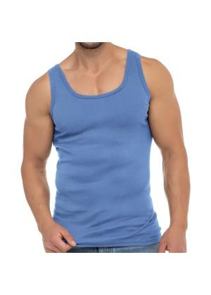 Celodoro Herren Business Tank Top (1 Stück), Achselhemd aus Baumwolle - Carolina Blue