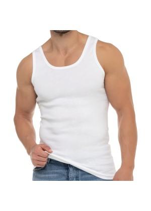 Celodoro Herren Business Tank Top (1 Stück), Achselhemd aus Baumwolle - Weiß
