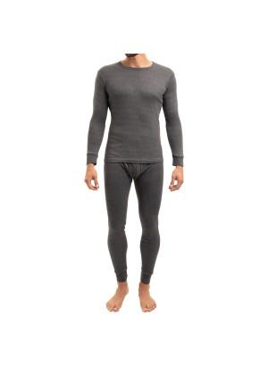 MT Herren Ski- & Thermowäsche Set - warme Unterwäsche langarm mit Innenfleece - Anthrazit