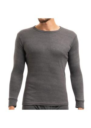 MT Herren Ski- und Thermounterhemd - warme Unterwäsche langarm mit Innenfleece - Anthrazit