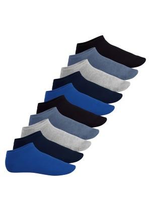 Footstar Herren & Damen Sneaker Socken (10 Paar), Kurze Sportsocken aus Baumwolle - Sneak It! - Jeanstöne