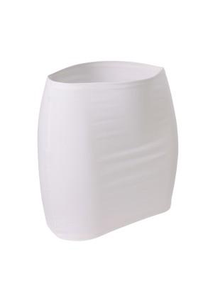 CFLEX Damen Variotube-Nierenwärmer, Shirtverlängerung, Minirock aus Baumwolle - Bright White