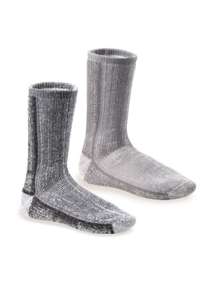 Footstar Damen & Herren Wollsocken (2er Pack) THERMO-ULTRA - Grau Mix