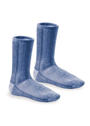 Footstar Damen Herren und Kinder Wollsocken (2er Pack) THERMO-ULTRA - Blau