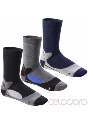 Footstar Damen und Herren Wintersocken (6 Paar), Warme Vollfrottee Socken mit Thermo Effekt - Thermo Pro