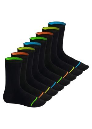 Footstar Herren & Damen Baumwollsocken (8 Paar), Schwarze Socken im Neon Look - Neon Glow