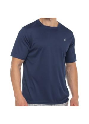 CFLEX Herren Sport Shirt Fitness T-Shirt piqué Sportswear Collection - Navy