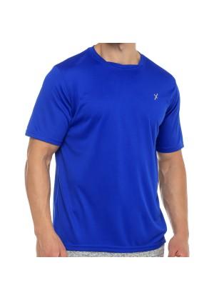 CFLEX Herren Sport Shirt Fitness T-Shirt piqué Sportswear Collection - Royal
