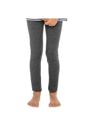 Kinder Leggings Baumwolle Grau-meliert