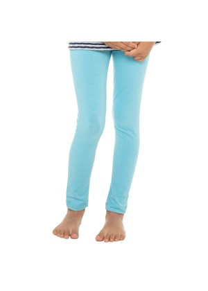 Kinder Leggings Baumwolle Hellblau