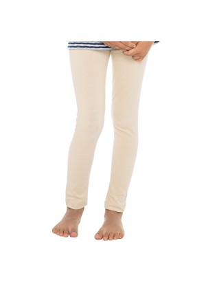 Celodoro Kinder Leggings, stretchige Jersey Hose aus Baumwolle - Beige