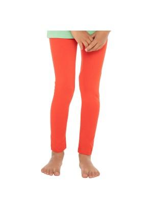 Celodoro Kinder Leggings, stretchige Jersey Hose aus Baumwolle - Rot