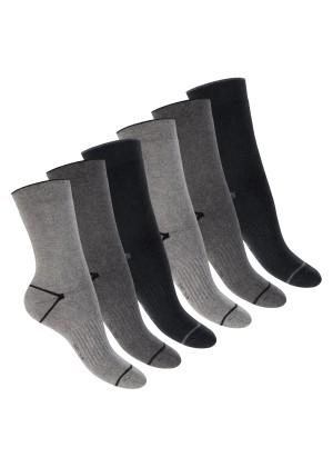 Footstar Damen und Herren Wintersocken (6 Paar), Warme Vollfrottee Socken mit Thermo Effekt -  Everyday! - Classic Grey