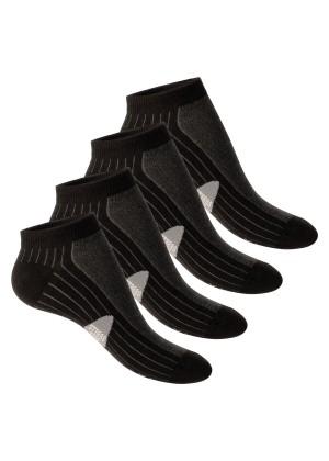 4 Paar Footstar STRESS FREE Sneaker Socken Schwarz