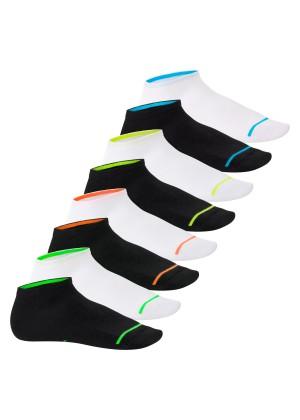 Footstar Herren & Damen Sneaker Socken (8 Paar), Kurze Sportsocken im Neon Look - Neon Glow - Mix