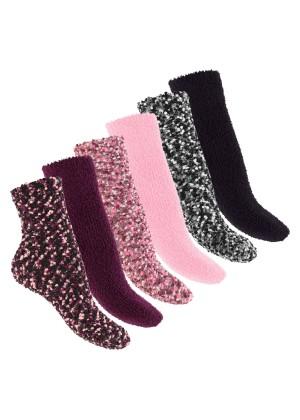 Footstar - 6 Paar Soft Socks warme Kuschelsocken