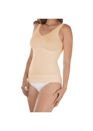 Celodoro Damen Form-Top - Seamless Unterhemd mit Shaping-Effekt - Beige