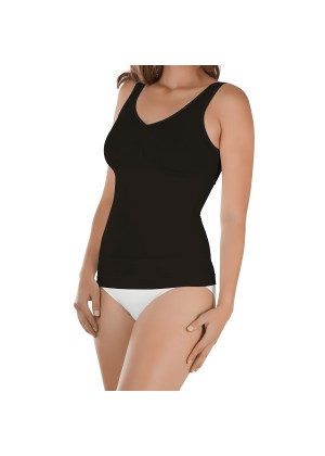 Damen Seamless Form-Top Schwarz