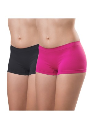 2er Pack Damen-Pant-seamless-pink und anthra
