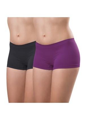 2er Pack Damen-Pant-seamless-violett und anthra